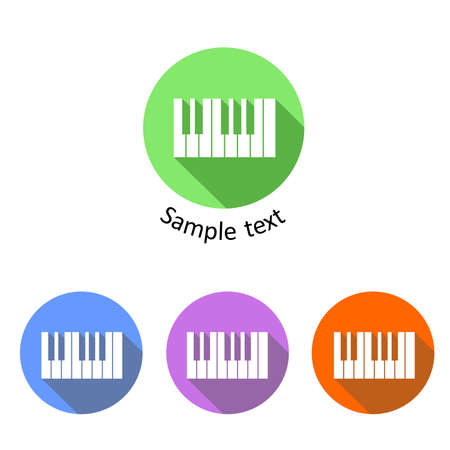 compose: set of icons dedicated to the music and piano.