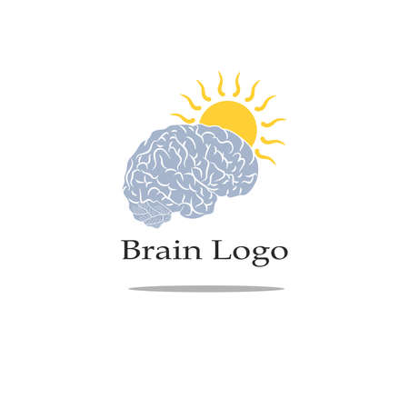 knowledgeable: illustration with a stylized image of the brain for the logo.