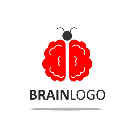 knowledgeable: illustration with a stylized image of the brain