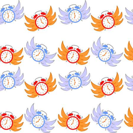 temps qui passe: Seamless background sur le thème du temps qui passe rapidement.