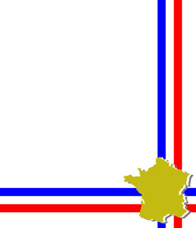 provence: Template, decorated with colors of the flag and the map of France.