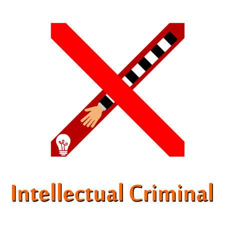 delito: ilustraci�n en el tema de un delito - robo.