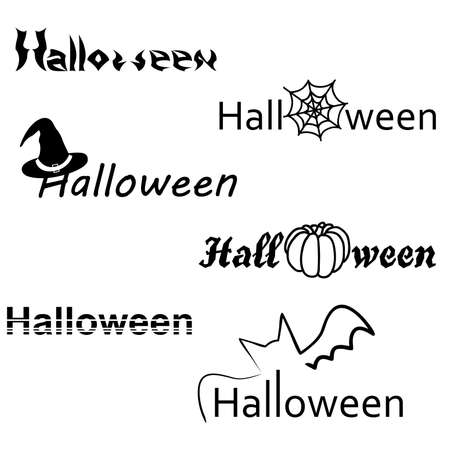 october 31: illustration on the theme of Halloween with different