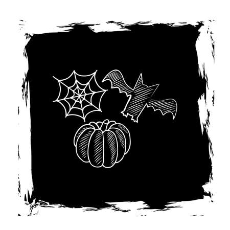 october 31: illustration on the theme of Halloween with its different attributes. Illustration