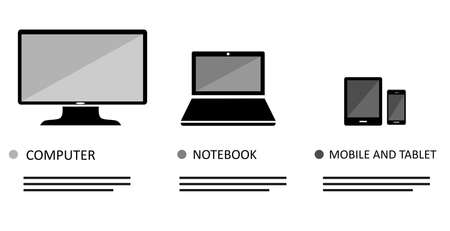 comp: vector illustration dedicated to the  different gadgets.