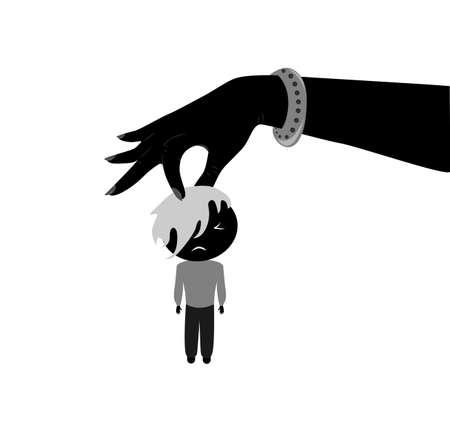 dominance: ilustraci�n en el concepto del feminismo y la dominaci�n femenina. Vectores
