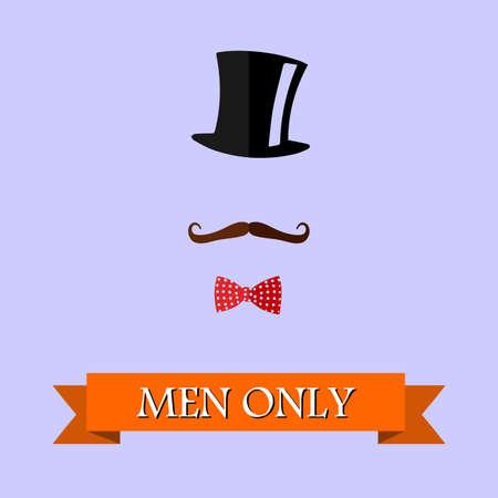purely: stylized illustration of a purely male community. Illustration