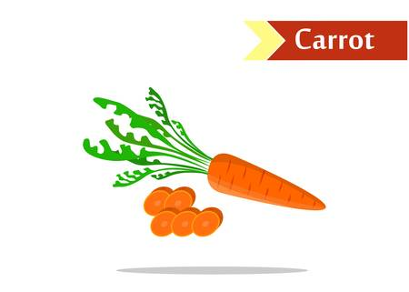 tasty: the illustration with  tasty vegetables - the carrots.