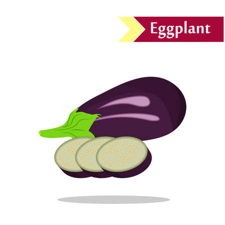 hearty: the illustration with  tasty vegetables - the eggplants. Illustration