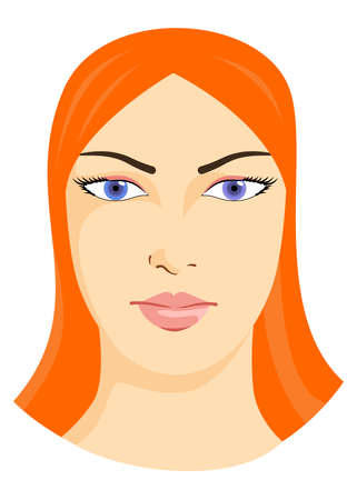 foxy: illustration of a beautiful woman with foxy hair.