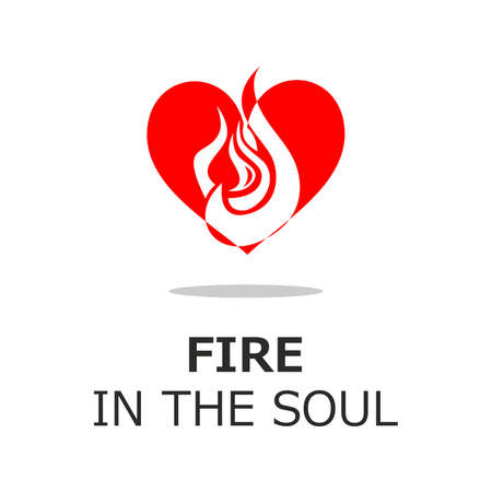 love explode: illustration on the theme of fire in the soul. Illustration