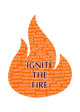 igniting: illustration on the theme of  igniting the fire.