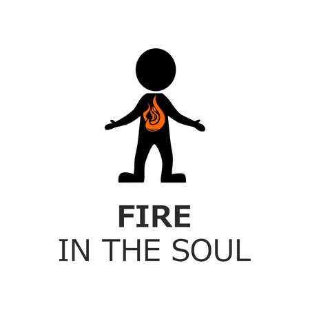 the soul: illustration on the theme of fire in the soul. Illustration