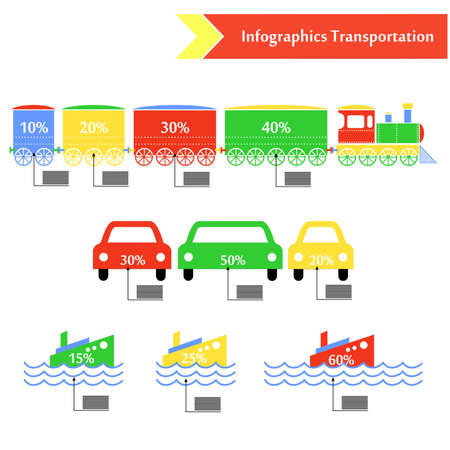 ferry boat: the illustration in the  style of infographics on the theme of transport.