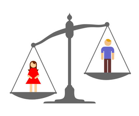 equality: Illustration devoted to a choice between man and woman.