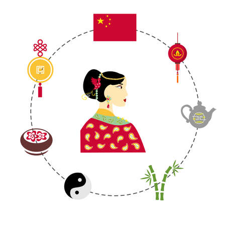 traditions: set of elements dedicated to the traditions and culture of china.