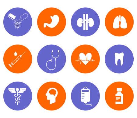 gastroenterologist: the illustration - set of icons on a theme of medicine. Illustration