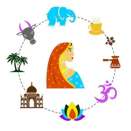 traditions: set of elements dedicated to the traditions and culture of India.