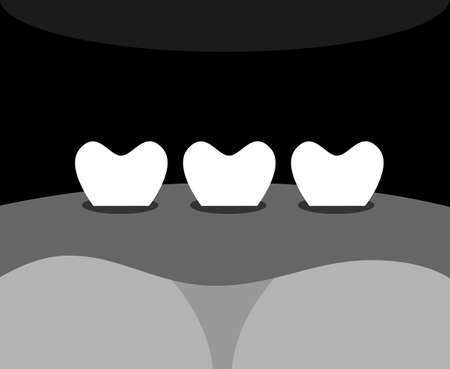 norm: illustration dedicated to the  teeth and gums .