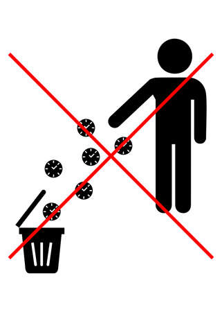 littering: Illustrations of littering