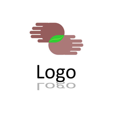 mutual help: the logo concept consisting of a human hands.