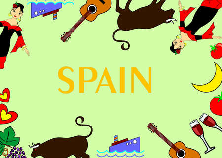 siesta: the colorful template dedicated to the Spain.