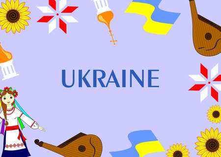 nationalities: the colorful template dedicated to the ukraine.