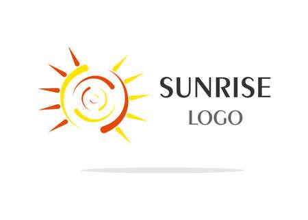 sun rise: the logo in yellow stylized as sun rise.