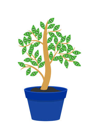 interest rate: the illustration of a concept on the theme of money tree.