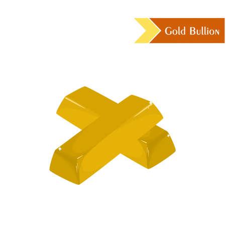gold bullion: illustration dedicated to wealth with gold bullion.