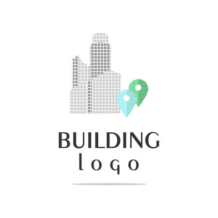 construction company: the set of logos for the construction company. Illustration
