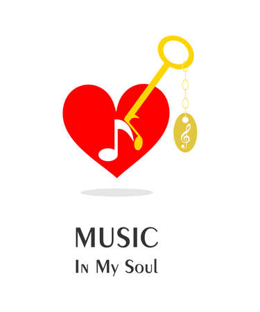 soul music: the illustration - concept - on the theme of music in the soul.