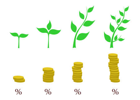 profit: the illustration - concept - dedicated to the increase in profits. Illustration