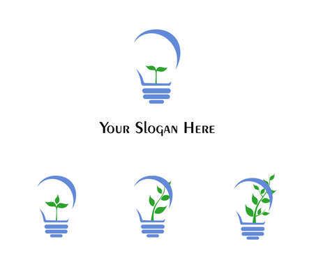 illustration - set of logos - dedicated to the sprout and idea.