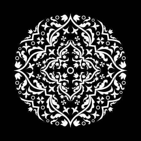 glamors: the illustration with the beautiful ornament in black. Illustration