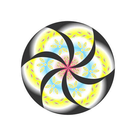 esoterismo: ilustración de la mandala brillante y hermoso en el tema del esoterismo.