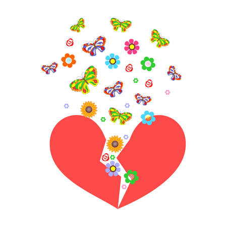 glamors: the illustration - greetings - on a theme of love and Valentines Day.
