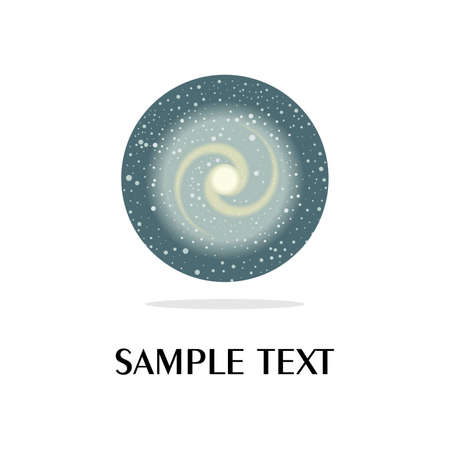 planetarium: the universe and space icon. Illustration