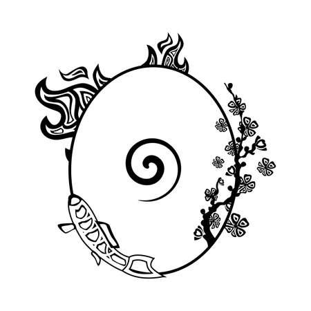 Ilustración - Concepto - con los diferentes cuatro elementos. Ilustración de vector