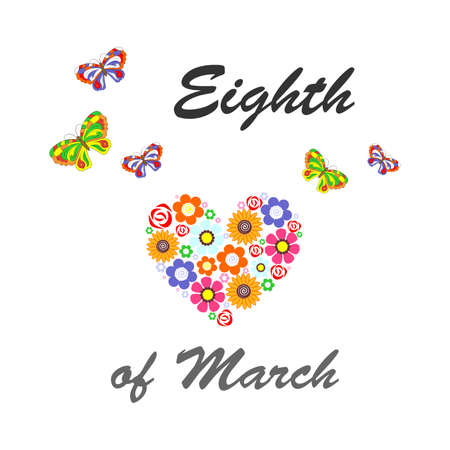 eighth: the illustration dedicated to the eighth of March - Womens Day.