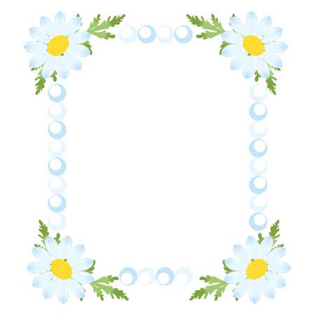 camomiles: the illustration - beautiful frame - with the beautiful camomiles. Illustration