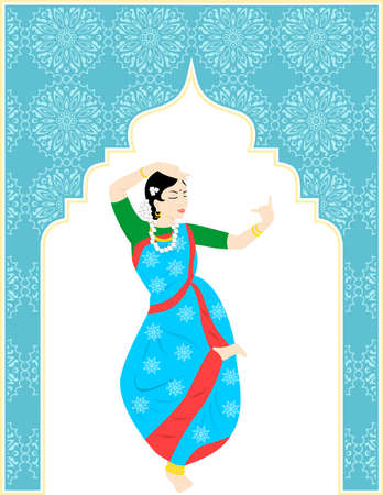 squaw: the illustration of a beautiful dancing girl - squaw.