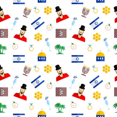 synod: the background in the style of a flat design on the theme of israel.