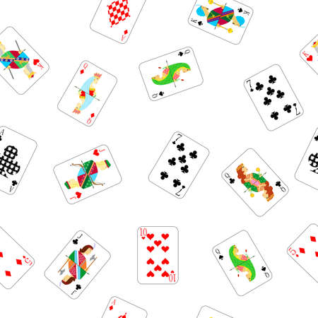 jack of diamonds: beautiful and original illustration - background - with designer playing cards.