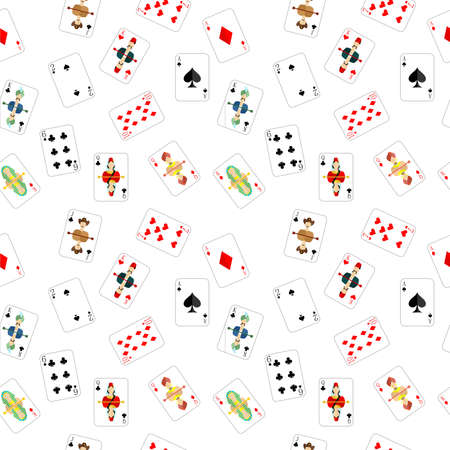 solitaire: beautiful and original illustration - background - with designer playing cards.