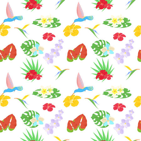 tropics: beautiful and bright background on the theme of tropics.