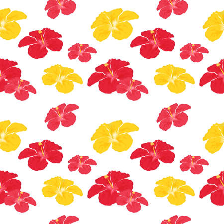 tropics: beautiful and bright background on the theme of tropics with hibiscus.