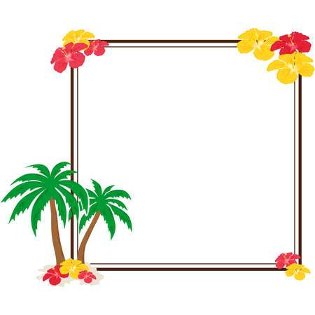 tropics: beautiful and bright frame on the theme of tropics.