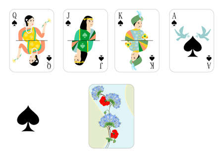 roulette player: the beautiful and original designer playing cards.