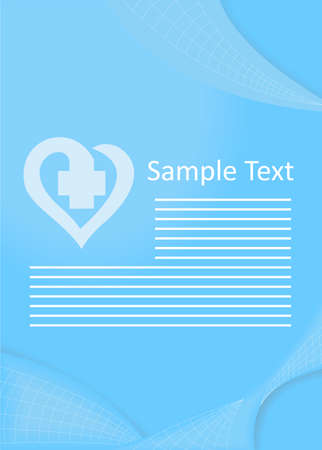 heal sickness: Illustration - template - on the theme of medicine.